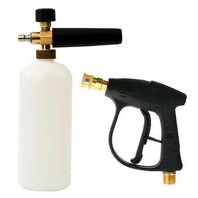 "1/4"" Quick Connector Pressure Snow Foam Lance Car Washer Bottle Gun Cannon Jet 3"