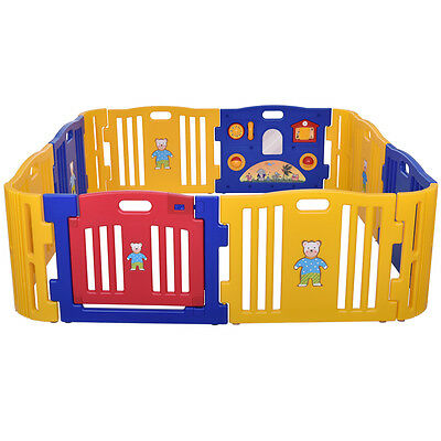 8/12 Panels Baby Playpen Kids Safety Fence Play Center PlayYard Kids Bbay pen 3