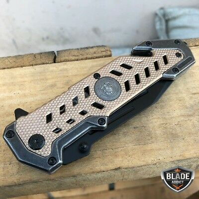 """9"""" Mtech USMC Marines Tanto Military Spring Assisted Open Rescue Pocket Knife 7"""