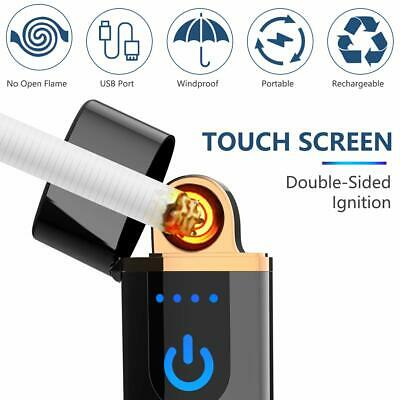 Electric Touch Sensor Cigarette Lighter Rechargeable USB WINDPROOF Lighters UK 4