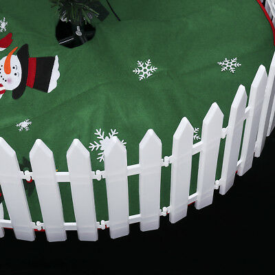 1-50X Picket Fence Garden Fencing Lawn Edging Home Yard Christmas Tree Fence UK 5