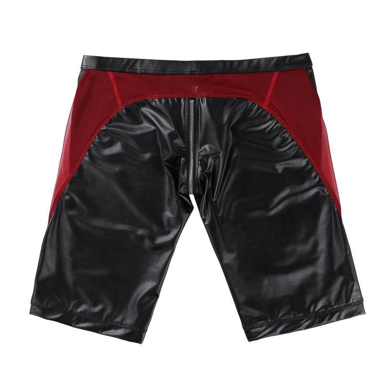 Herren Boxer Shorts Briefs Bikinihose mit Reißverschluss Unterwäsche Badehose 5