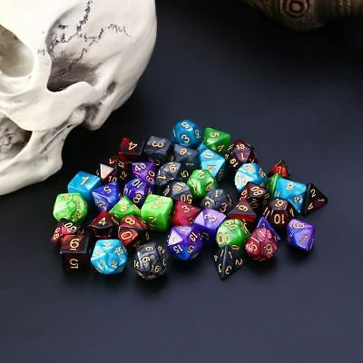 42pcs Polyhedral Dice for Dungeons and Dragons DND RPG D20 D12 D10 D8 D6 D4 Game 7