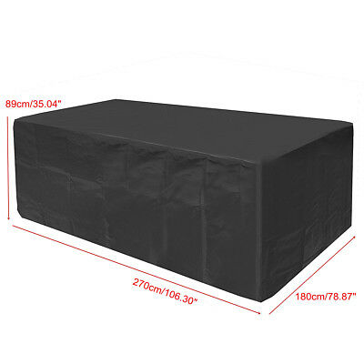 Large Waterproof Garden Patio Furniture Cover Covers Rattan Table Cube Outdoor 12