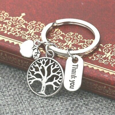 TEACHER THANK YOU KEY RING WITH ATTACHED CHARMS~School~Key Fob~Key Chain (50B)UK 2
