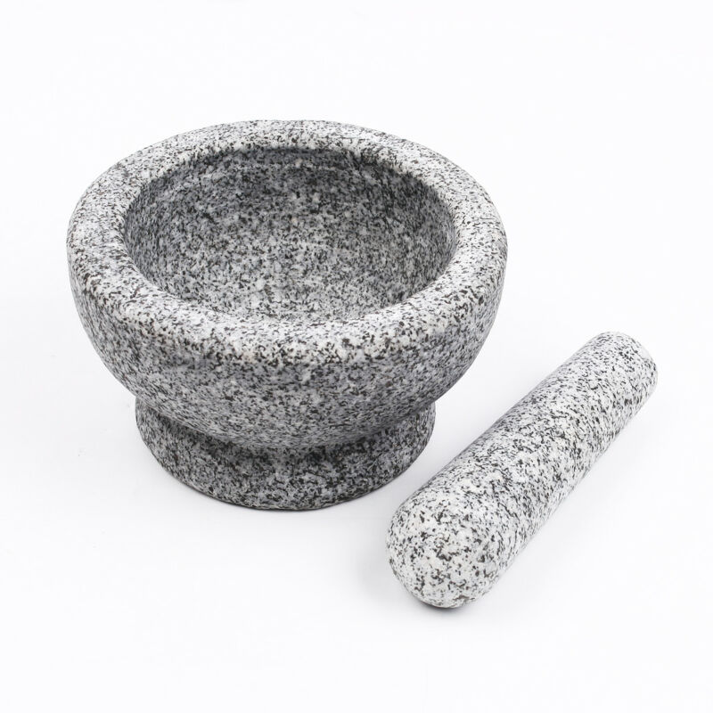 Mörser und Stößel aus Granit Set Robuster massiver Granit Steinmörser 6