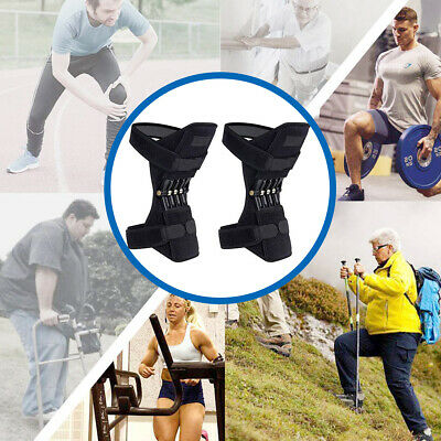 2X Knee Joint Support Brace Lift Booster Leg Pad Sport Spring Force Pain Relief 2