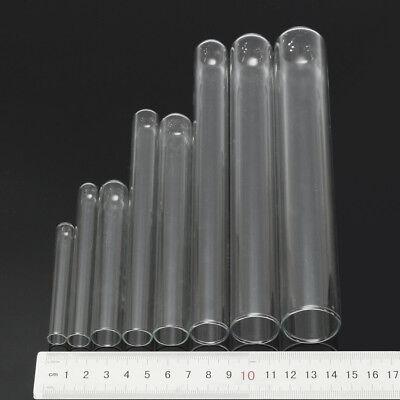 5pcs Glass Pyrex Borosilicate Rimmed Test Blowing Tubes Borosilicate Lab 8 Size 4