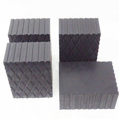 """Rotary Lift 3"""" Rubber Stack Blocks Auto Lift or Rolling Jack FJ2428 - Set of 4 7"""
