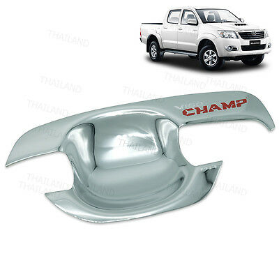 4 DOOR CHROME HANDLE INSERT BOWL FOR NEW TOYOTA HILUX VIGO CHAMP 2012+
