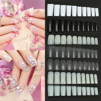 Boîte 100pcs Capsules Faux Ongle French Demi Full Gel UV Acrylique Nail Art Tips