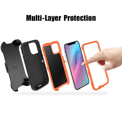 For iPhone 11 Pro Max Shockproof Hybrid Heavy Duty Case Full Cover W/ Belt Clip 11