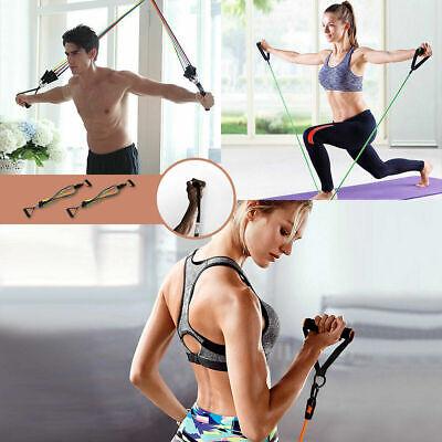 11 PCS Resistance Exercise Band Set Yoga Pilates Abs  Fitness Tube Workout Bands 3