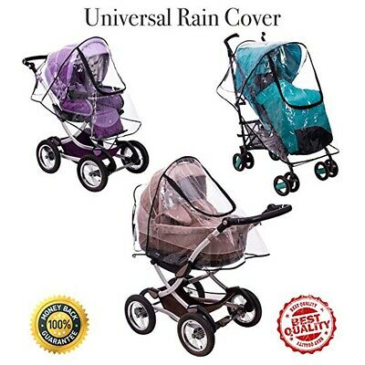 Stroller Rain Cover Baby Buggy Pushchair Universal Raincover Windproof Dust Snow 8