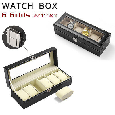 6/9/10/12/20/24 Watch Jewelry Storage Holder Box Watches Sunglasses Display Gift 3