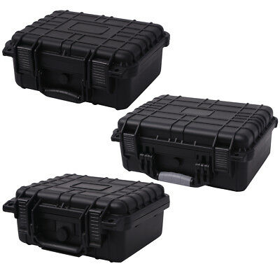 Protective Equipment Hard Carry Case Box Plastic Travel 3 Removable Foam 3 Sizes 7