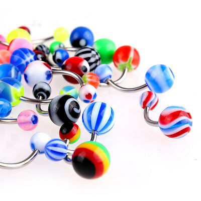 50 Pcs Belly Button Navel Ring Bar Bars Body Piercing Jewellery Rings Makeup UK 4