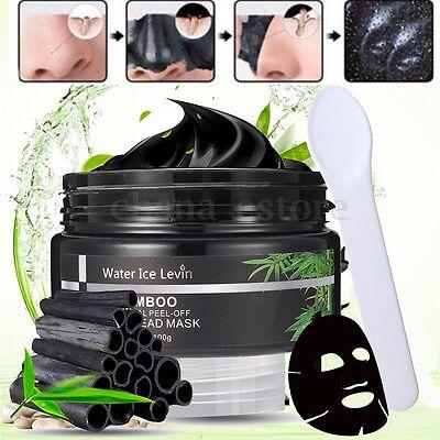 100g Carbón de Bambú Mascarilla Facial Espinilla Negros Limpieza Acné o Cepillo 2