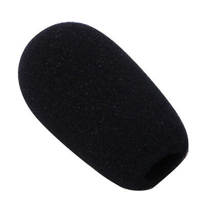 10pcs  Black Microphone Headset Foam Sponge Windscreen Mic Cover 6 Sizes 3