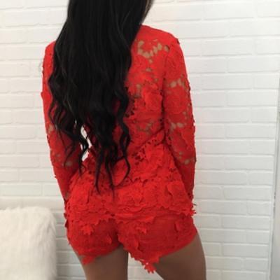 Abito Set Top pantaloni Completo Ricamato Pizzo Floral Lace Cardigan Shorts S
