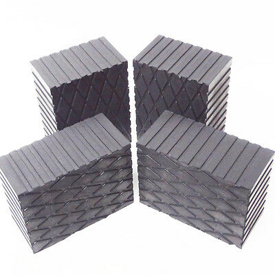 """Rotary Lift 3"""" Rubber Stack Blocks Auto Lift or Rolling Jack FJ2428 - Set of 4 5"""