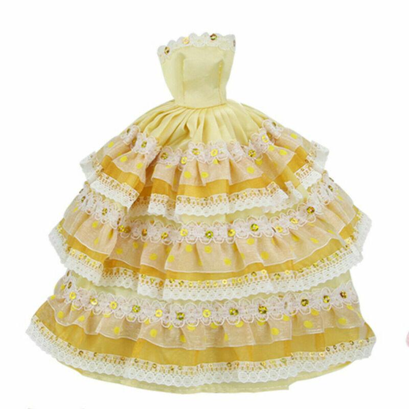 22pcs/set Fashion Casual Party Dress Wedding Gown For Barbie Dolls Random Color 11