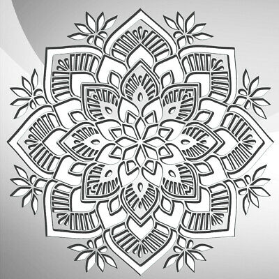 Round Mandala Ornament Decor Art Craft Stencil Walls Furniture A5 A4 A3 237 3