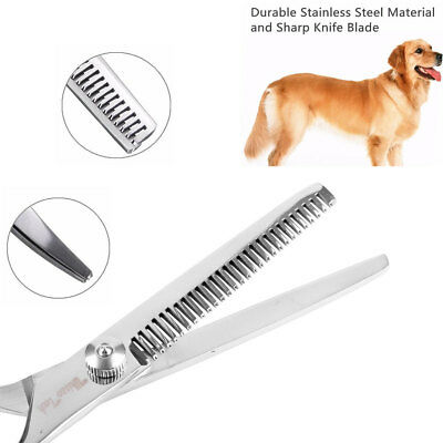 Pet Dog Grooming Scissors Stainless Straight Curved Thinning Shears Trimmer Kits 9