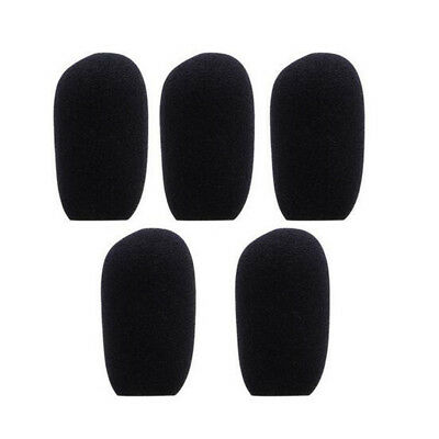 10pcs  Black Microphone Headset Foam Sponge Windscreen Mic Cover 6 Sizes 8
