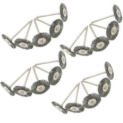 10Pcs 22 MM Dremel Steel Wire Wheel Brushes Set for Rotary Tool Die Grinding UK 2