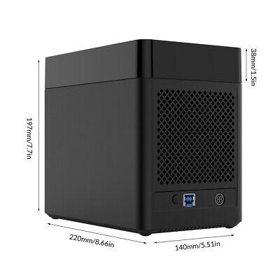 50TB Tool Free 5 Bay 3.5 Inch Sata Hard Drive Enclosure USB3.0 HDD Dock 7