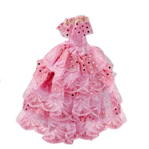 12Pcs/Set Barbie Doll Clothes Dress Fashion Wedding Party Gown Decor Kids Gift 9