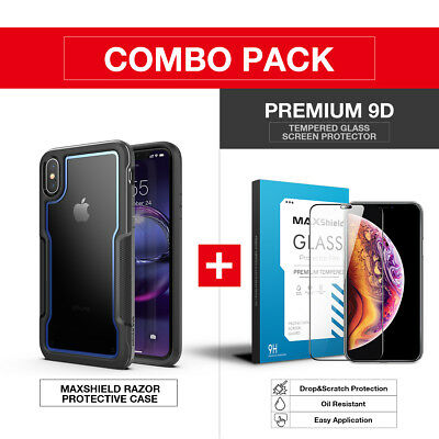 iPhone X XS MAX XR Case Cover, Heavy Duty Shockproof Slim Clear Protection Case 3