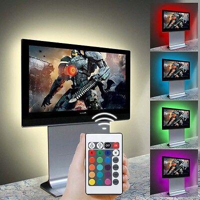 5V 5050 60SMD/M RGB LED Strip Light Bar TV Back Lighting Kit+USB Remote Control 8