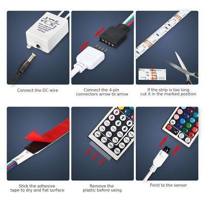 1-30M LED Stripe RGB Leiste Streifen 5050 Band IP65 Wasserdicht Lichterkette 6
