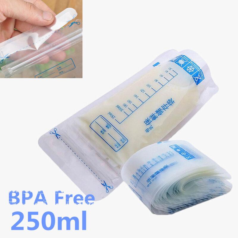 250ml Pre-sterilised Baby Breast Milk Storage Freezing Bags Pouch BPA Free AU