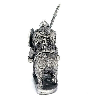 Dwarf Standing With Spear 28mm Unpainted Metal Wargames