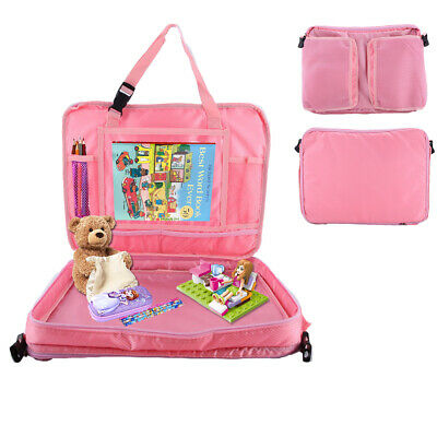 Kids Car Seat Travel Activity Tray Detachable Toddler Lap Table Carry Holder Bag 3