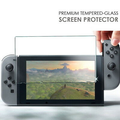 2x for Nintendo Switch Genuine 100% TEMPERED GLASS Screen Protector Cover Film 9