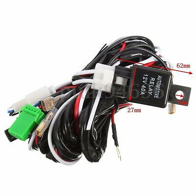 LED Driving Light Wiring Loom Harness Relay 40A Switch Relay Kit 12V For Toyota