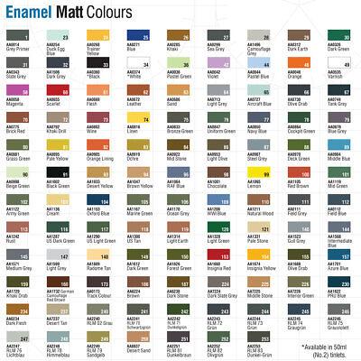 Humbrol Enamel Model Paint 14ml Gloss Metallic Satin Matt All Colours & Shades 2