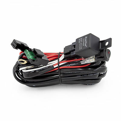 Wiring Harness Switch Relay Kit for Connect 2 LED Work Driving Light Bar 4WD 2