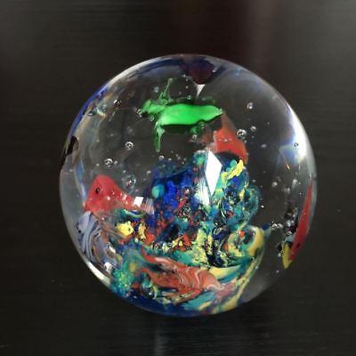 3 Stück Paperweight / Briefbeschwerer Glas Kugel 9 cm