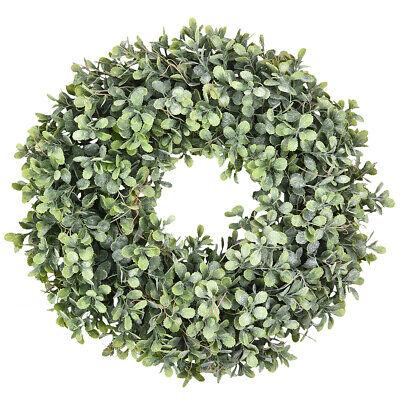 Pure Garden Preserved Boxwood Wreath Home Door Decor Greenery Wedding Event 6