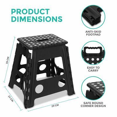 Multi Purpose Plastic Folding Step Stool Home Kitchen Easy Storage Foldable Seat 2
