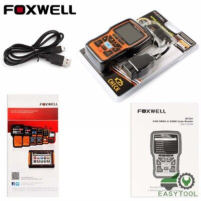 Foxwell NT301 OBD OBD2 Engine Universal Car Code Reader Scanner Diagnostic Tool 6