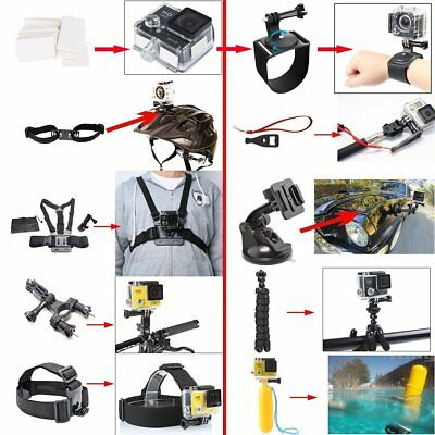 50 PCS For GoPro Hero 7 6 5 Accessories Kit Action Camera Mount Accessory Bundle 2