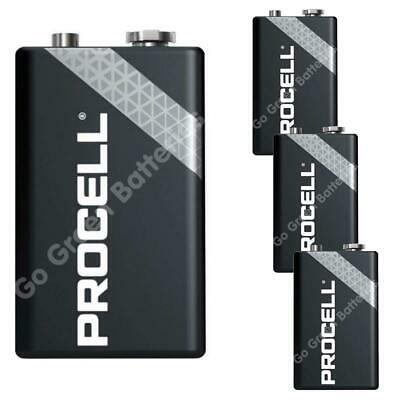 4 x Procell 9V PP3 (Replaces Duracell Industrial Batteries) LR22 BLOC MN1604 2