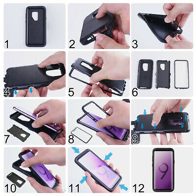 Samsung Galaxy S10+ S9 Note 8 9 Case Shockproof Hybrid Rubber Armor Rugged Cover 7