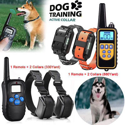 Dog Shock Collar With Remote Waterproof Electric For Large 880 Yard Pet Training 11